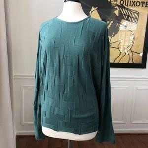 Oska Geometric Weave Sweater Green 12/14
